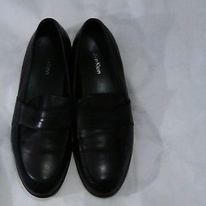 Calvin Klein Leather Black Loafers SZ 9.5D
